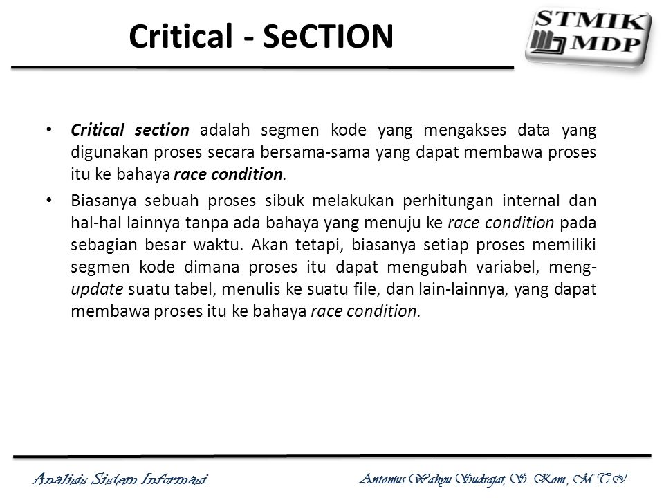 Critical - SeCTION