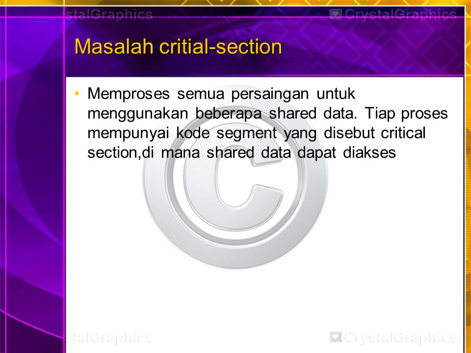 Masalah critial-section