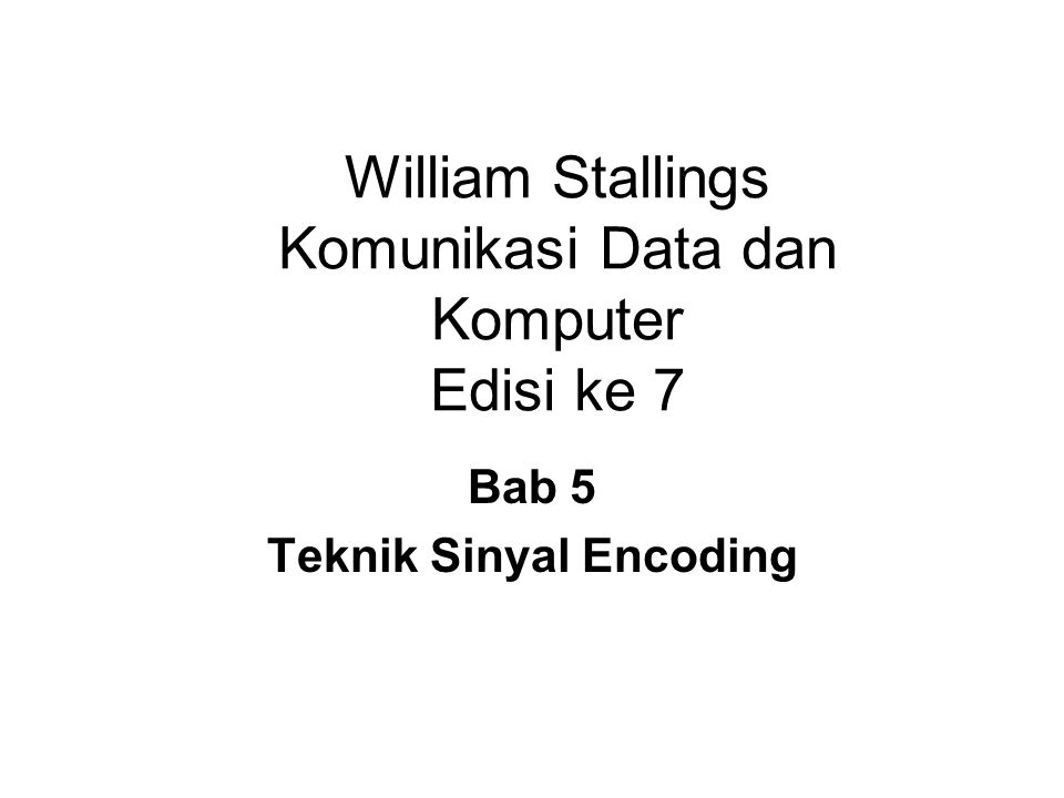 William Stallings Komunikasi Data dan Komputer Edisi ke 7