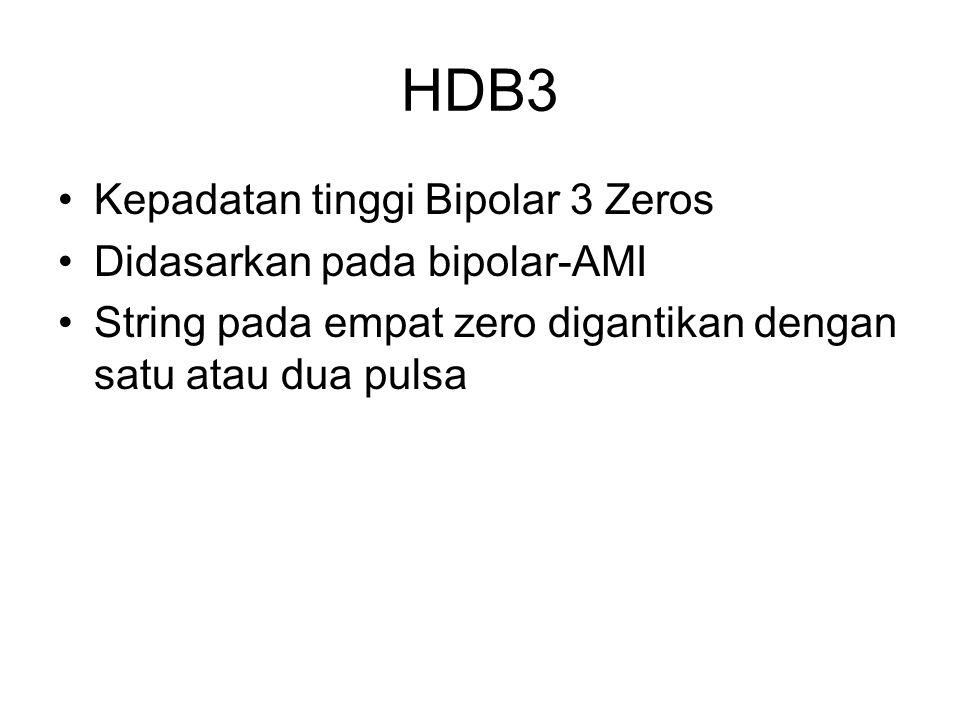 HDB3 Kepadatan tinggi Bipolar 3 Zeros Didasarkan pada bipolar-AMI