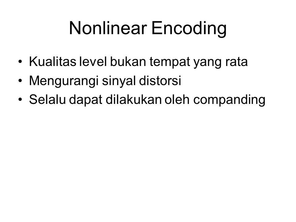Nonlinear Encoding Kualitas level bukan tempat yang rata