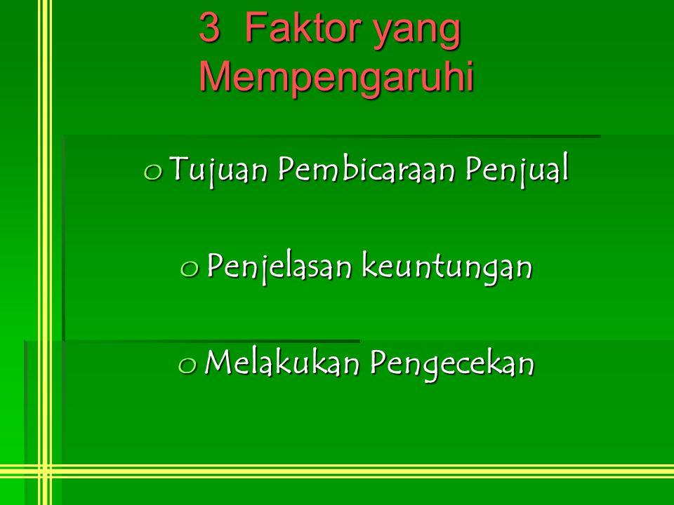 3 Faktor yang Mempengaruhi