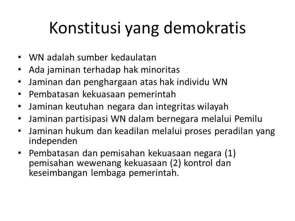 Konstitusi yang demokratis