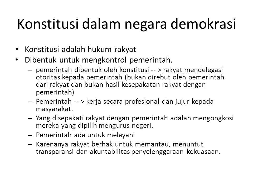 Konstitusi dalam negara demokrasi