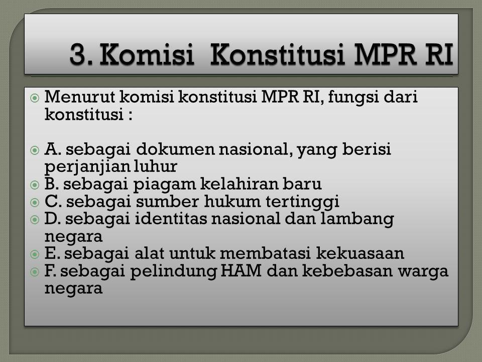 3. Komisi Konstitusi MPR RI