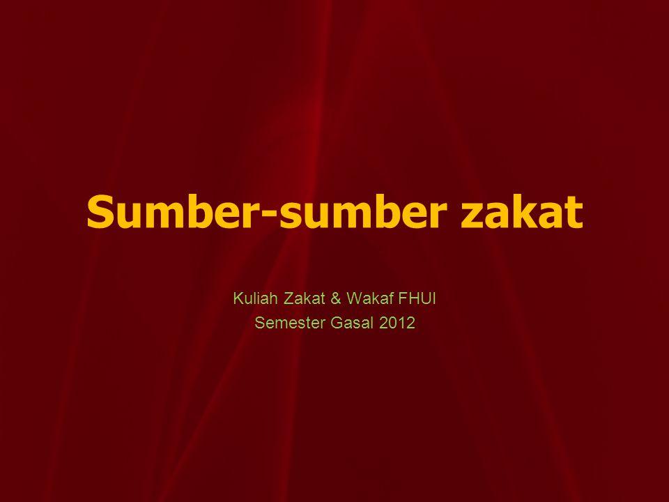 Kuliah Zakat & Wakaf FHUI Semester Gasal 2012