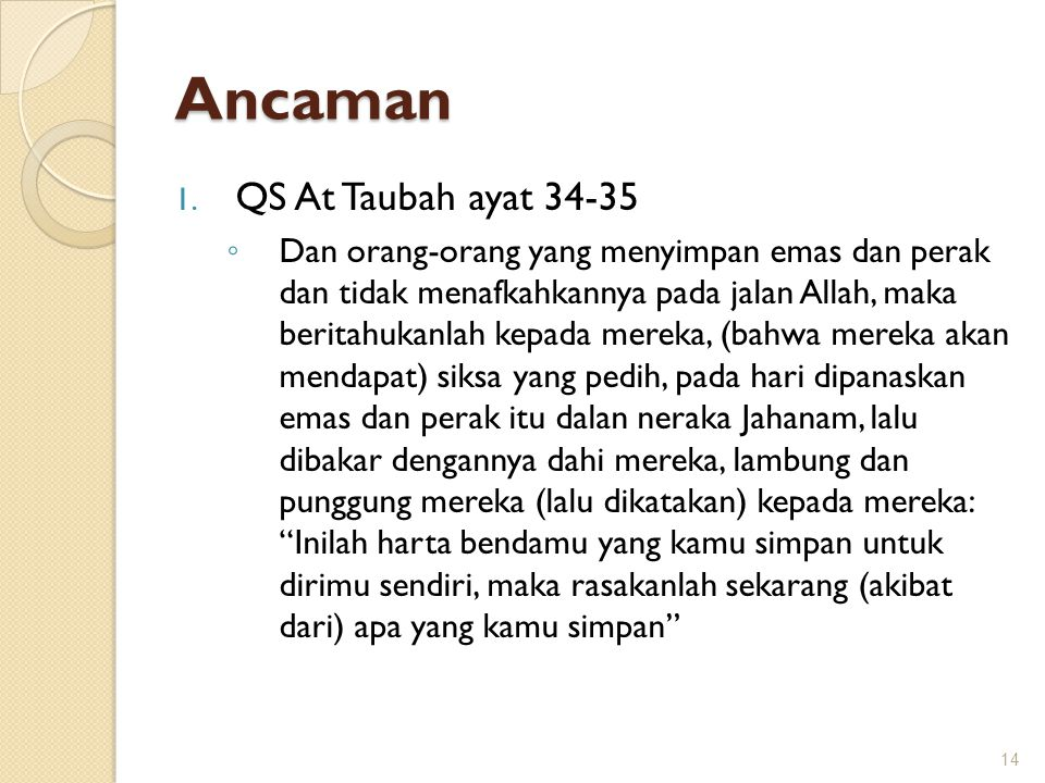 Ancaman QS At Taubah ayat 34-35