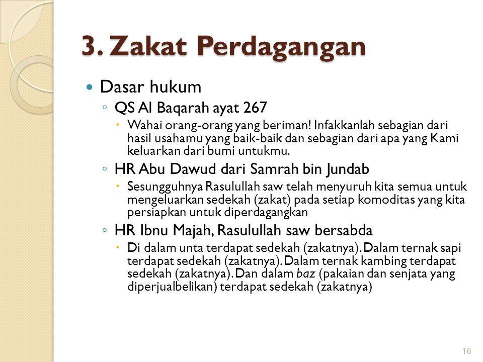 3. Zakat Perdagangan Dasar hukum QS Al Baqarah ayat 267