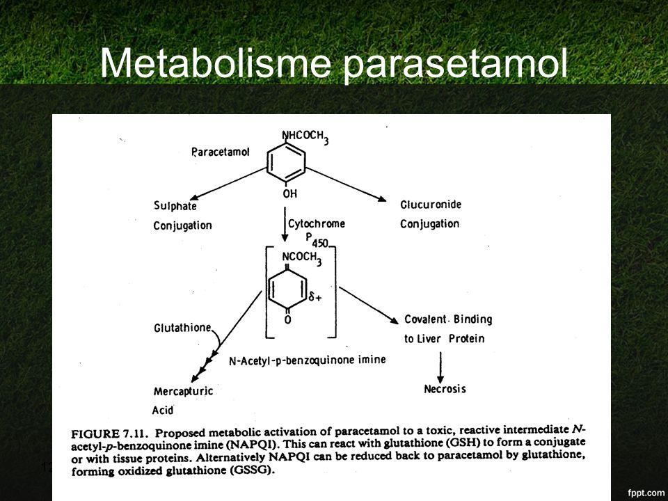 Metabolisme parasetamol