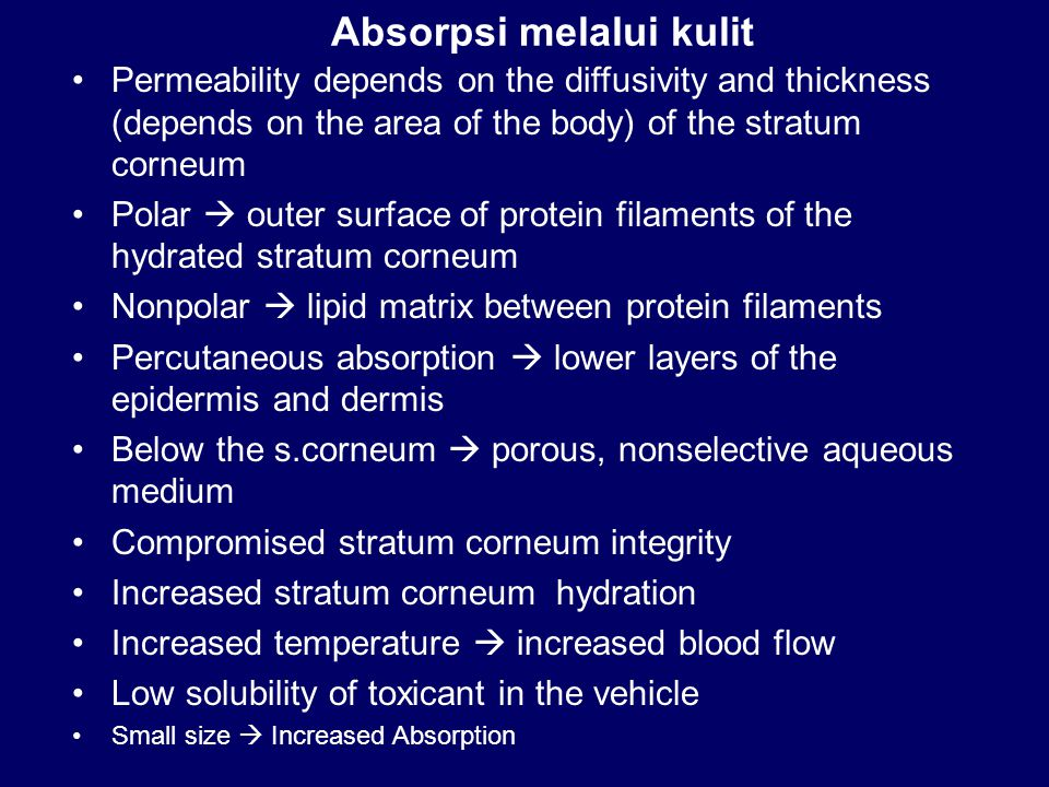 Absorpsi melalui kulit
