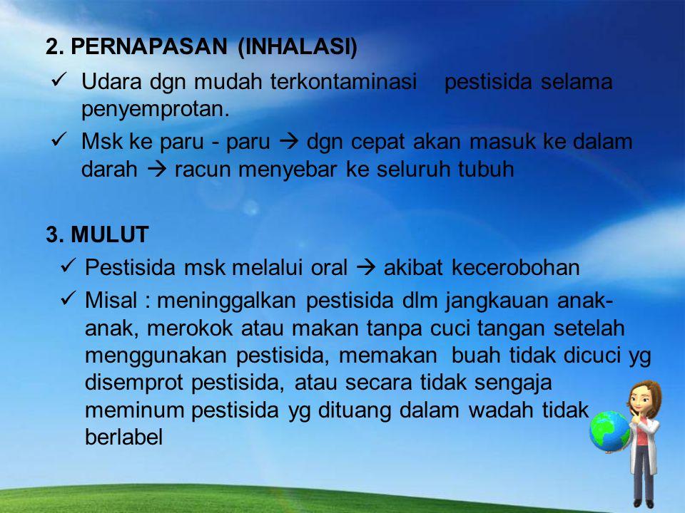 2. PERNAPASAN (INHALASI)