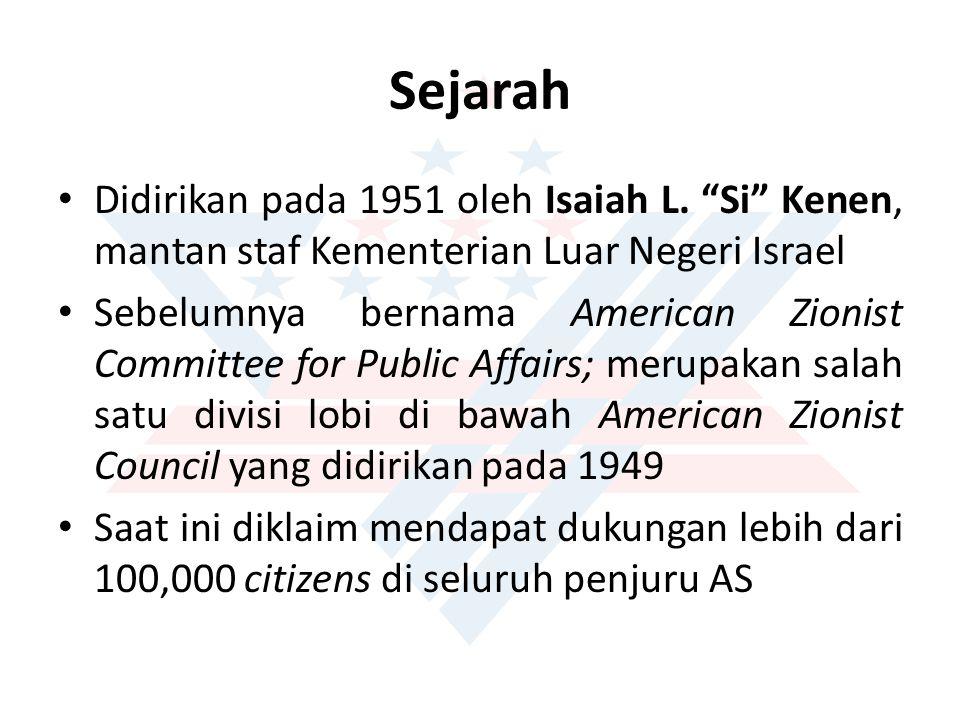 Sejarah Didirikan pada 1951 oleh Isaiah L. Si Kenen, mantan staf Kementerian Luar Negeri Israel.