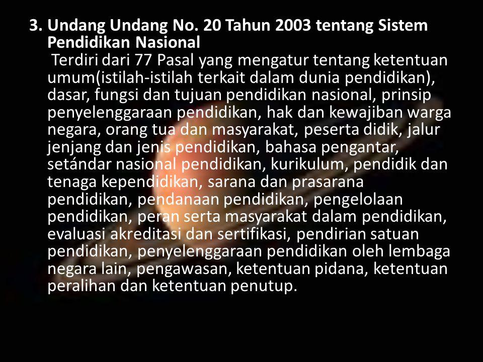 3. Undang Undang No.