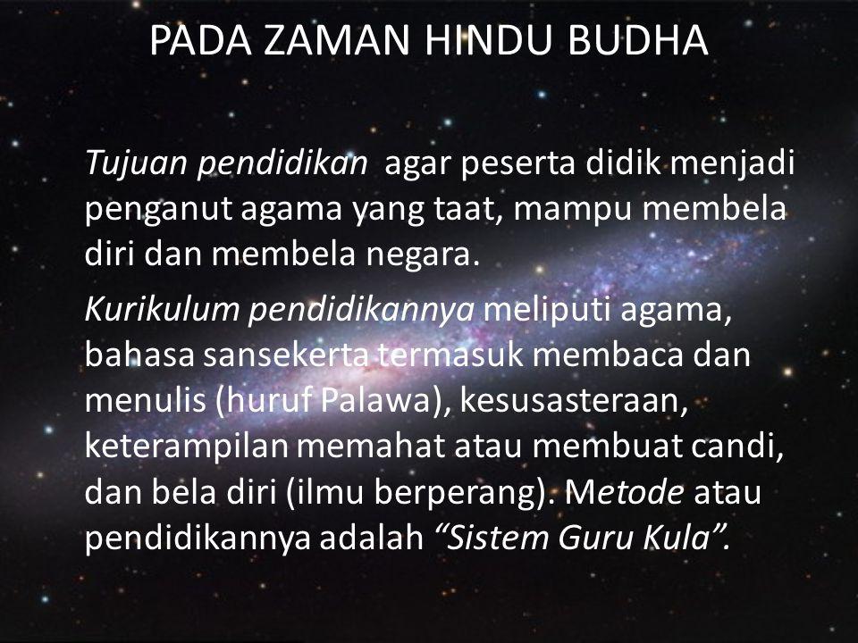 PADA ZAMAN HINDU BUDHA
