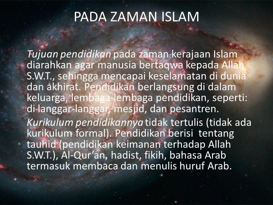 PADA ZAMAN ISLAM