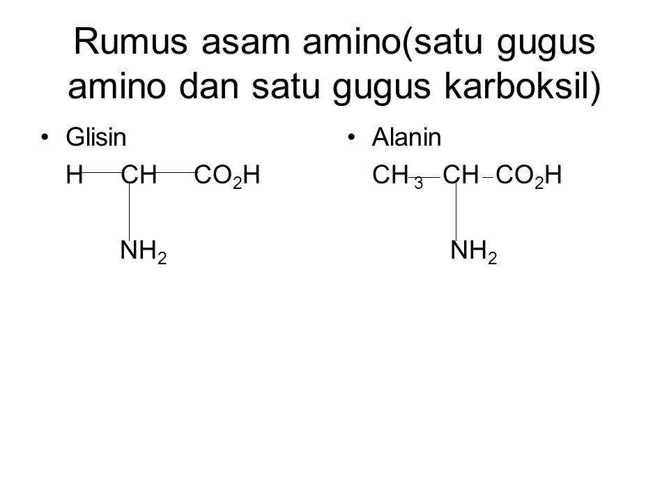 Rumus asam amino(satu gugus amino dan satu gugus karboksil)