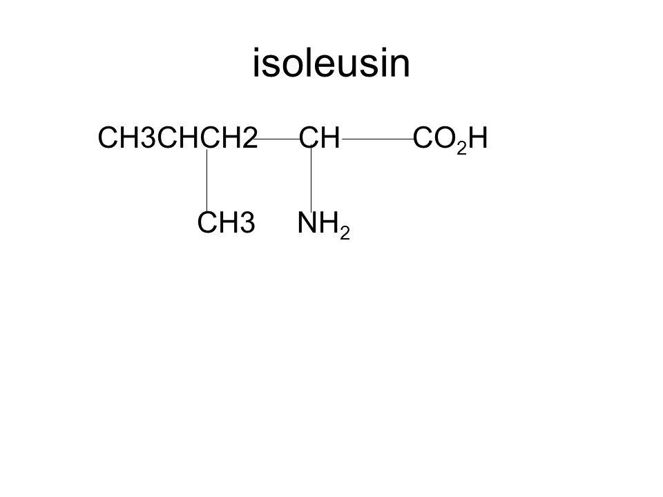 isoleusin CH3CHCH2 CH CO2H CH3 NH2