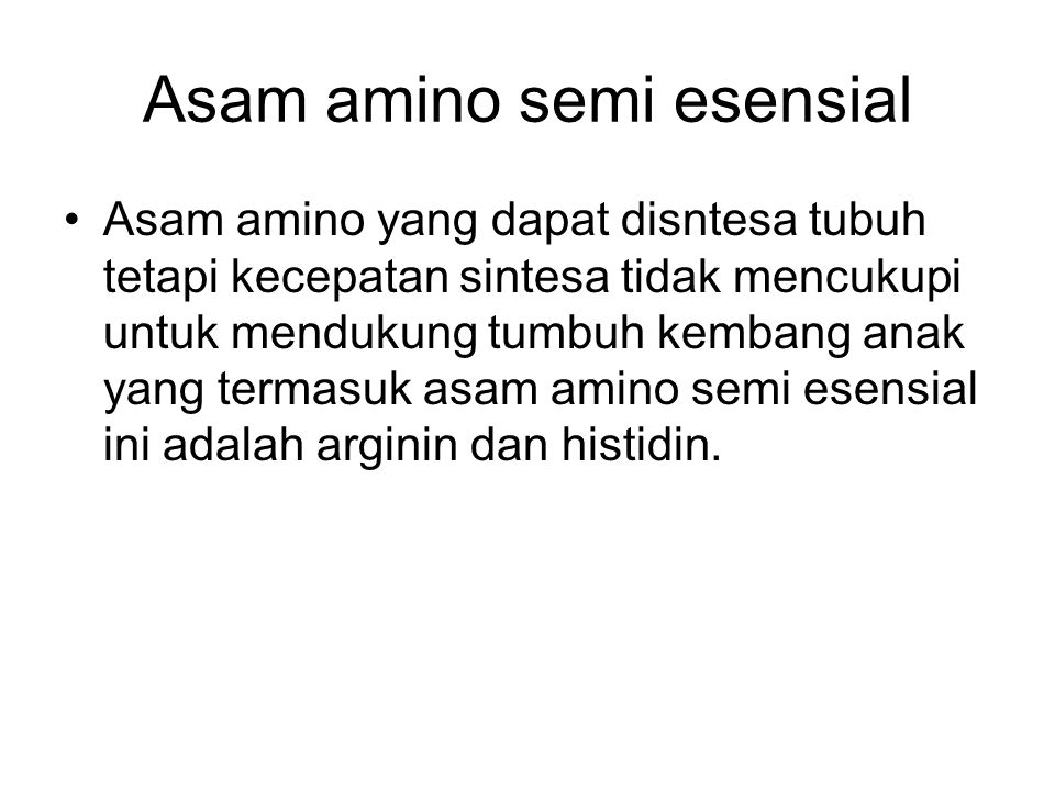 Asam amino semi esensial
