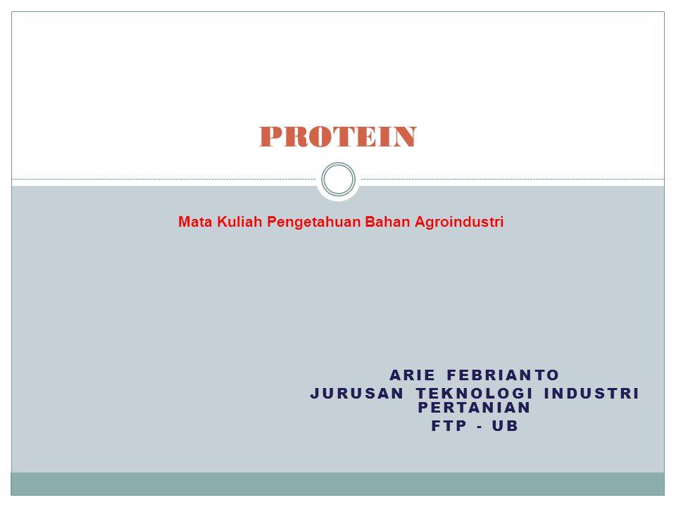Arie Febrianto Jurusan Teknologi Industri Pertanian FTP - UB