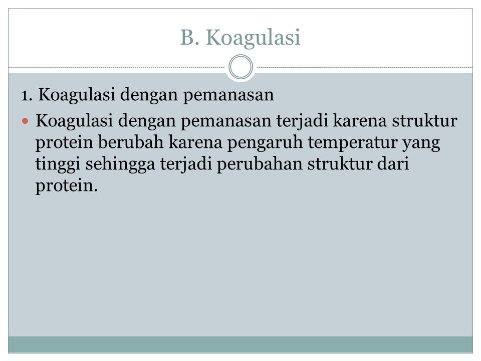 B. Koagulasi 1. Koagulasi dengan pemanasan