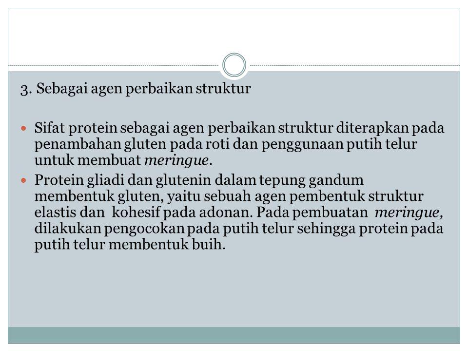 3. Sebagai agen perbaikan struktur