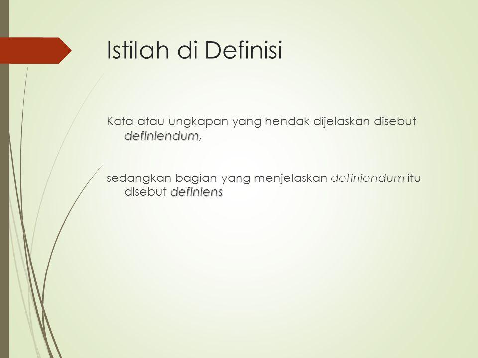 Istilah di Definisi