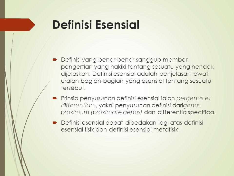 Definisi Esensial