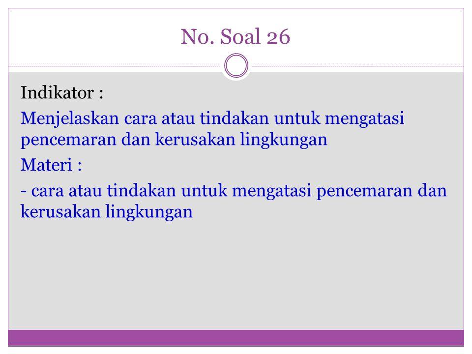 No. Soal 26