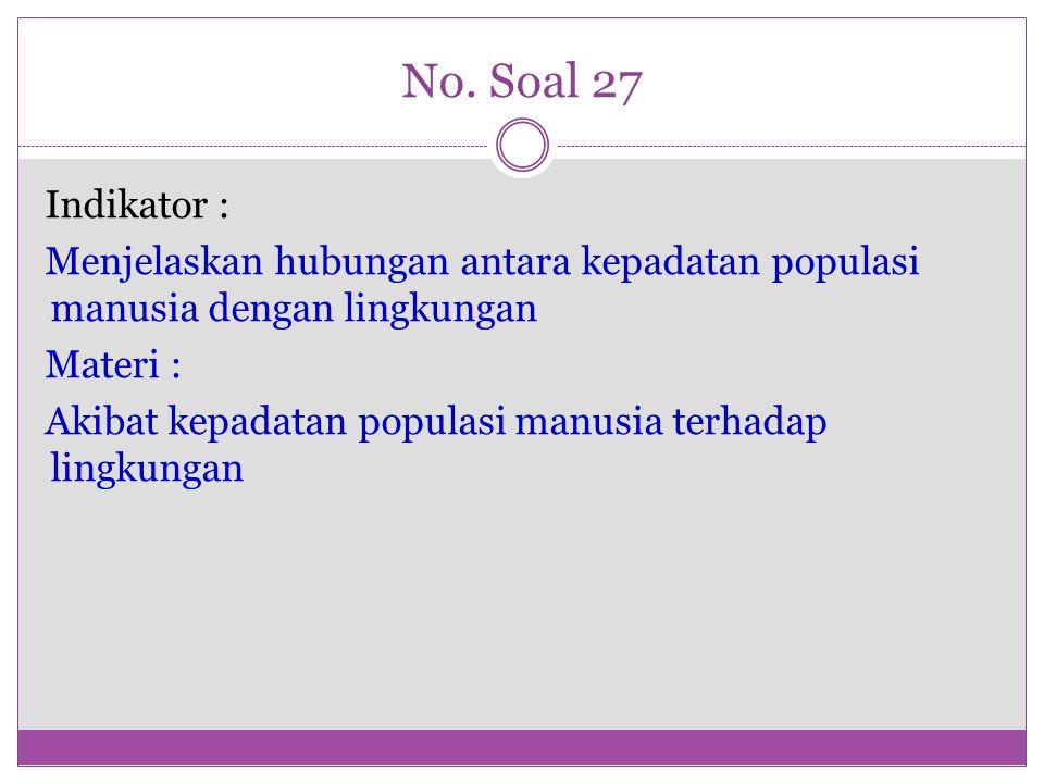 No. Soal 27