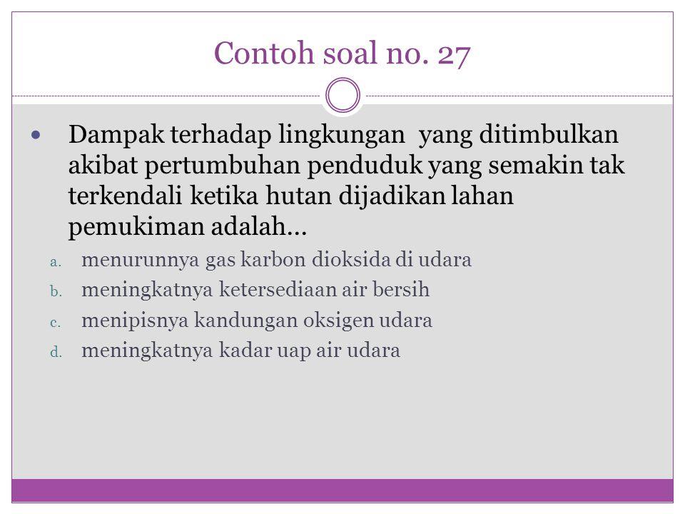 Contoh soal no. 27