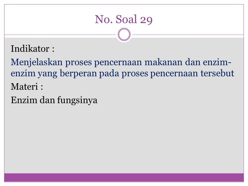 No. Soal 29