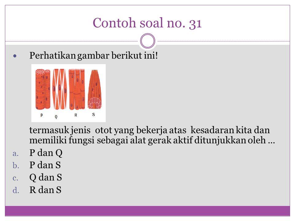 Contoh soal no. 31 Perhatikan gambar berikut ini!