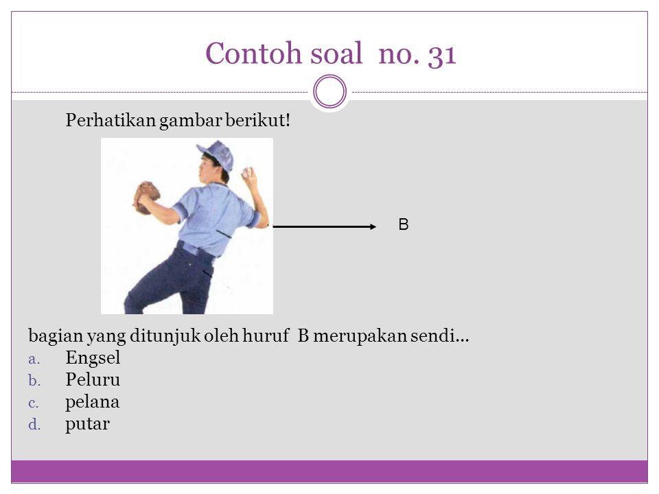 Contoh soal no. 31 Perhatikan gambar berikut!