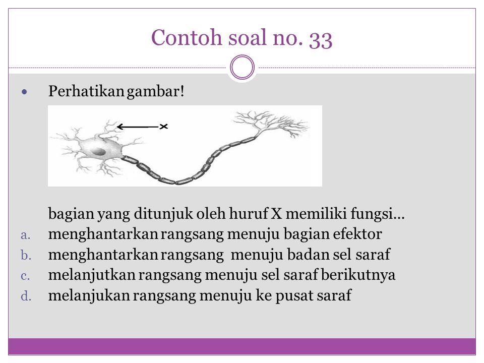 Contoh soal no. 33 Perhatikan gambar!