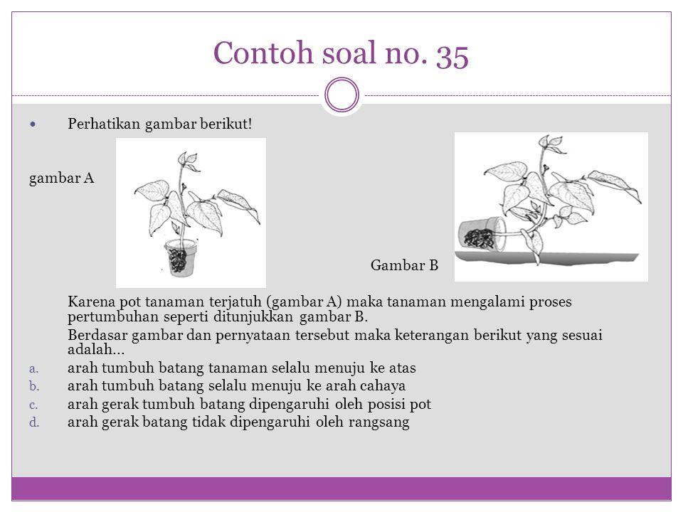 Contoh soal no. 35 Perhatikan gambar berikut! gambar A Gambar B