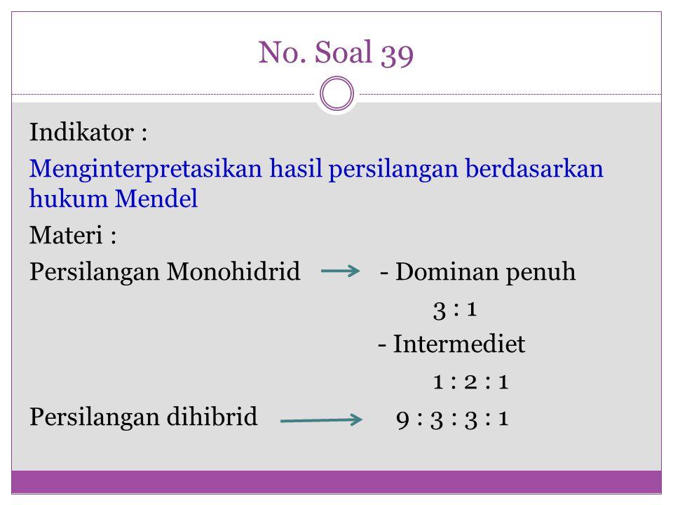 No. Soal 39