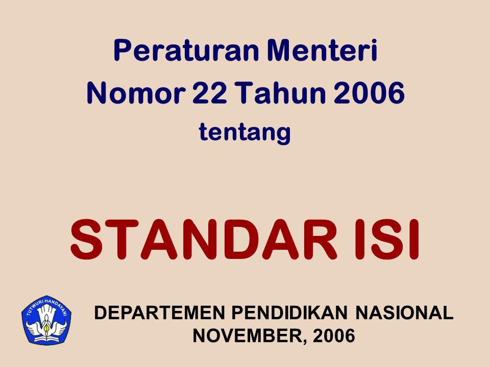 Peraturan Menteri Nomor 22 Tahun 2006 tentang