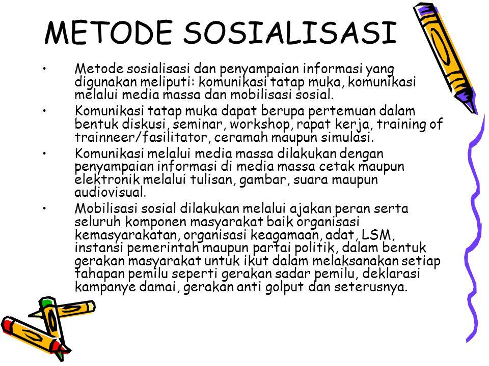 METODE SOSIALISASI