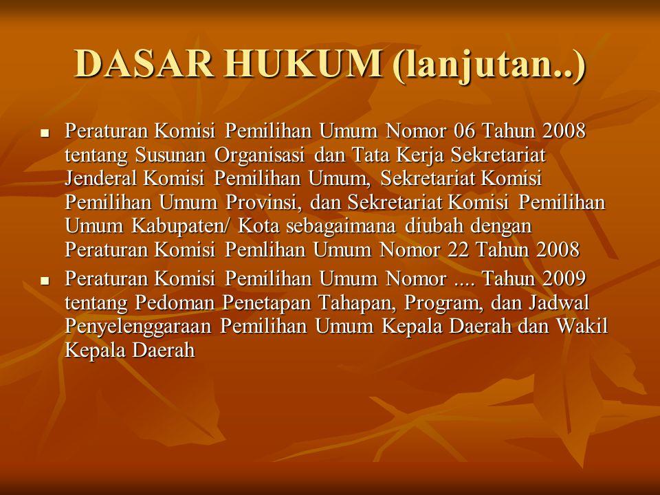 DASAR HUKUM (lanjutan..)