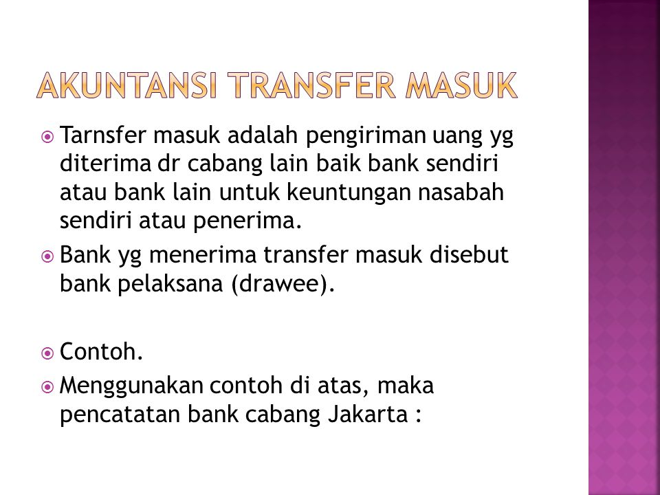 Akuntansi Transfer masuk