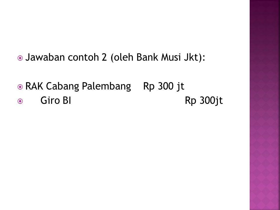 Jawaban contoh 2 (oleh Bank Musi Jkt):