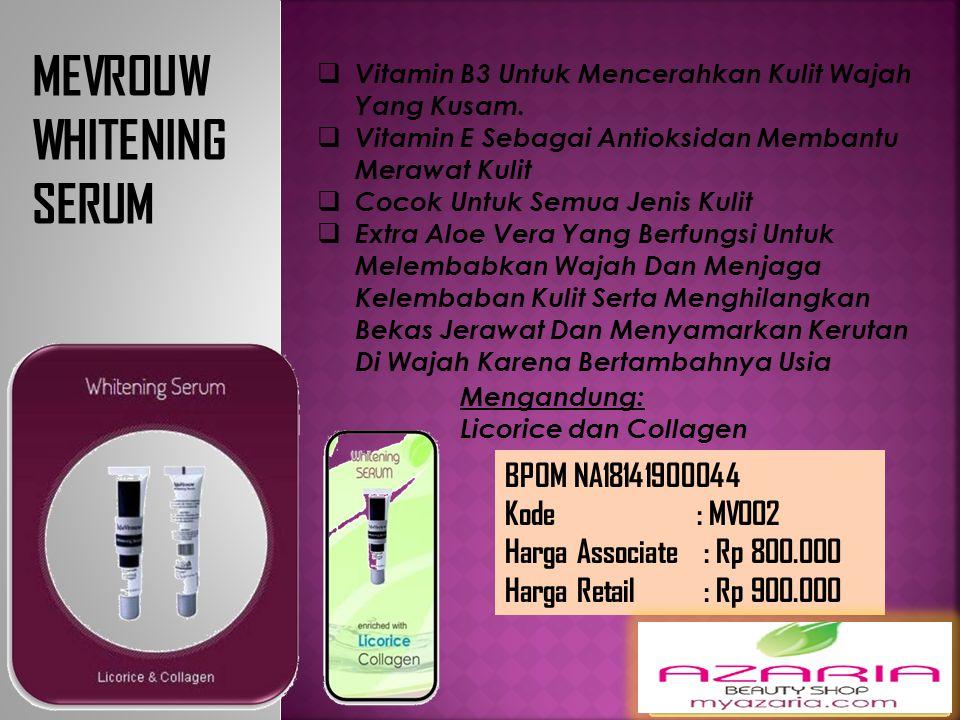 MEVROUW WHITENING SERUM BPOM NA18141900044
