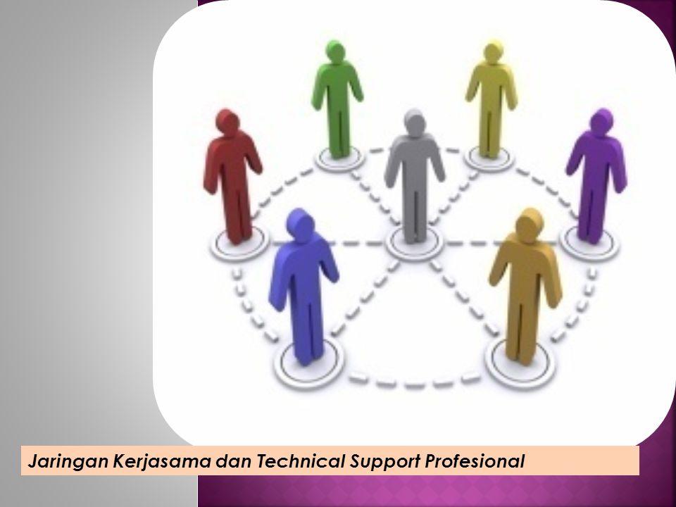 Jaringan Kerjasama dan Technical Support Profesional