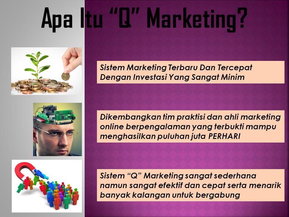 Apa Itu Q Marketing Sistem Marketing Terbaru Dan Tercepat Dengan Investasi Yang Sangat Minim.