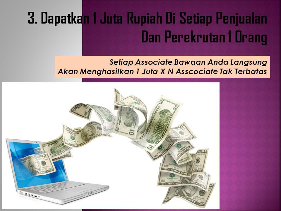 3. Dapatkan 1 Juta Rupiah Di Setiap Penjualan Dan Perekrutan 1 Orang