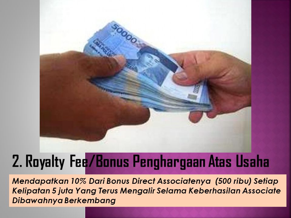 2. Royalty Fee/Bonus Penghargaan Atas Usaha