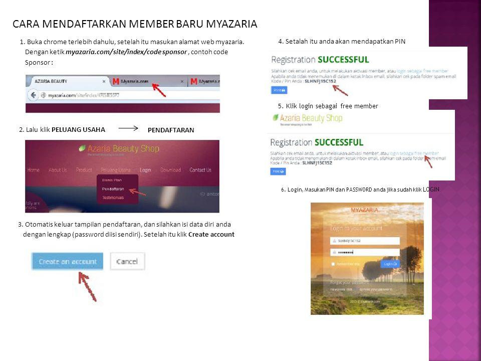 CARA MENDAFTARKAN MEMBER BARU MYAZARIA