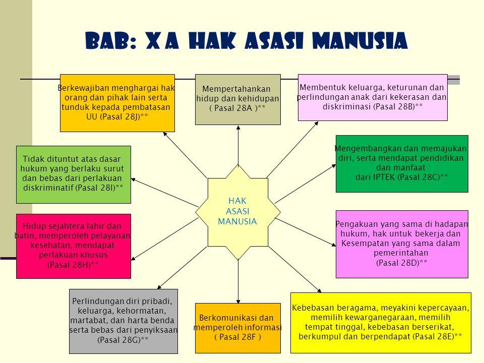 BAB: X A HAK ASASI MANUSIA