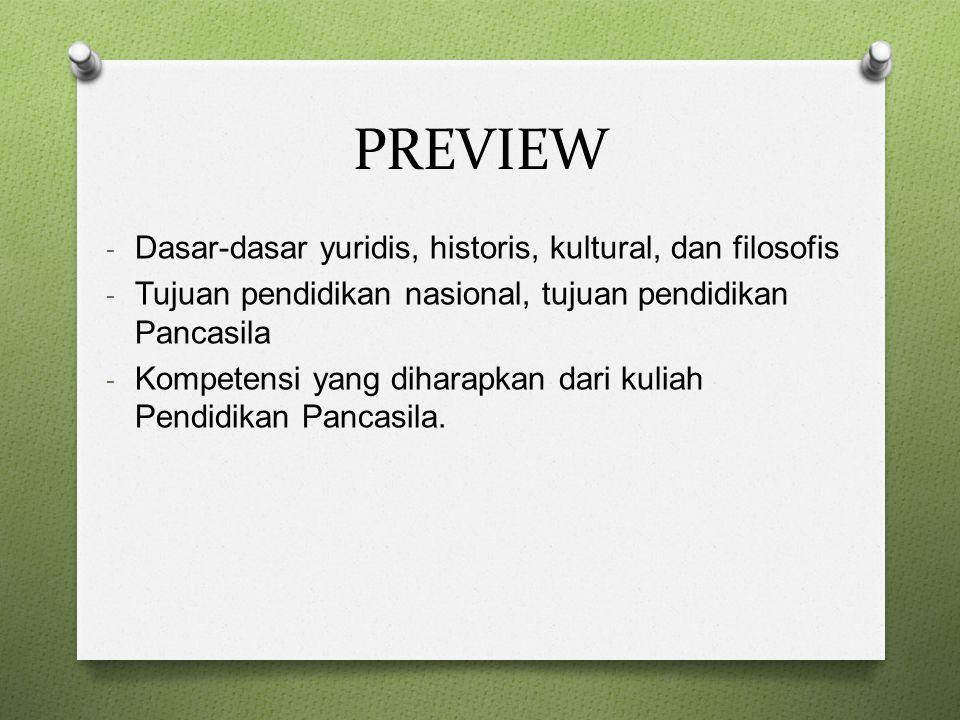 PREVIEW Dasar-dasar yuridis, historis, kultural, dan filosofis