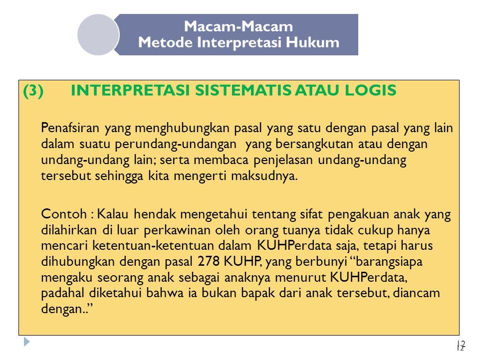 Macam-Macam Metode Interpretasi Hukum